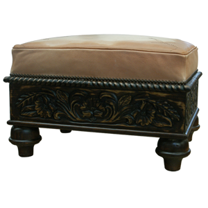 Spanish Colonial Ottomans | Spanish Colonial Furniture